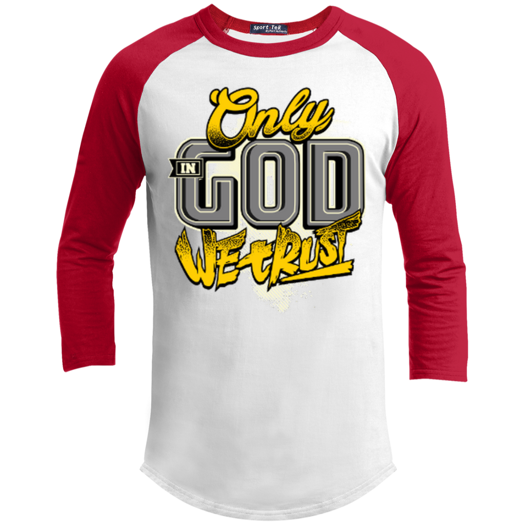 Only In God We Trust - Apostolic Images - 3/4 Length - Sporty Tee Shirt - Kick Merch - 6