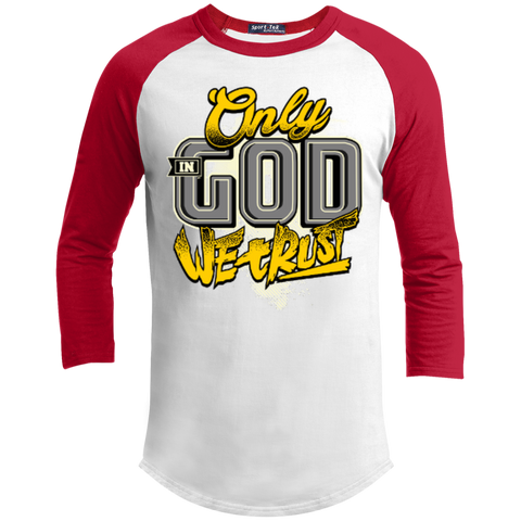 Image of Only In God We Trust - Apostolic Images - 3/4 Length - Sporty Tee Shirt - Kick Merch - 6
