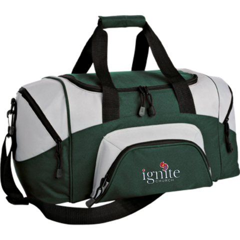 Image of IGNITE church - Small Colorblock Sport Duffel Bag - Kick Merch - 5