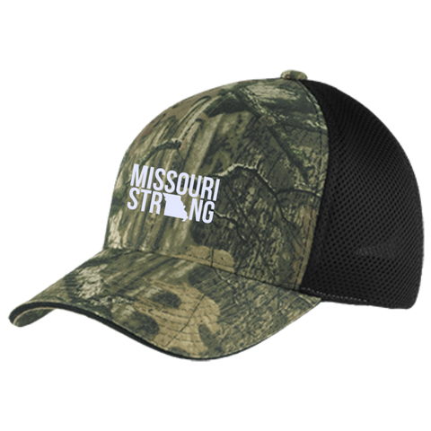 Image of MO Strong - Camo Cap with Mesh - Kick Merch - 1