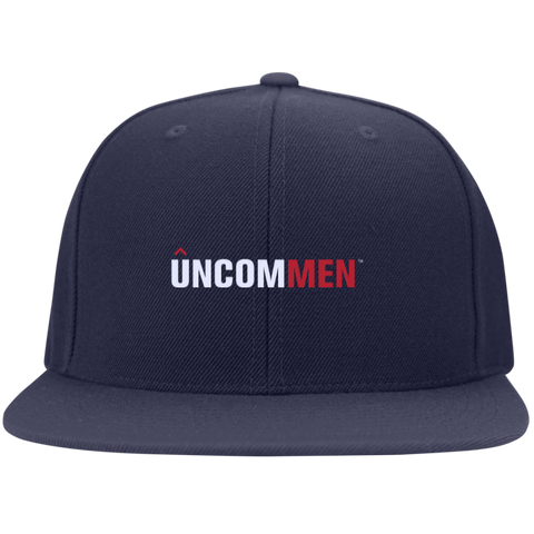 Image of UNCOMMEN Logo - Flat Bill High-Profile Snapback Hat