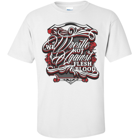 Image of We Wrestle Not - Cotton T-Shirt - Godly Wear - Kick Merch - 3