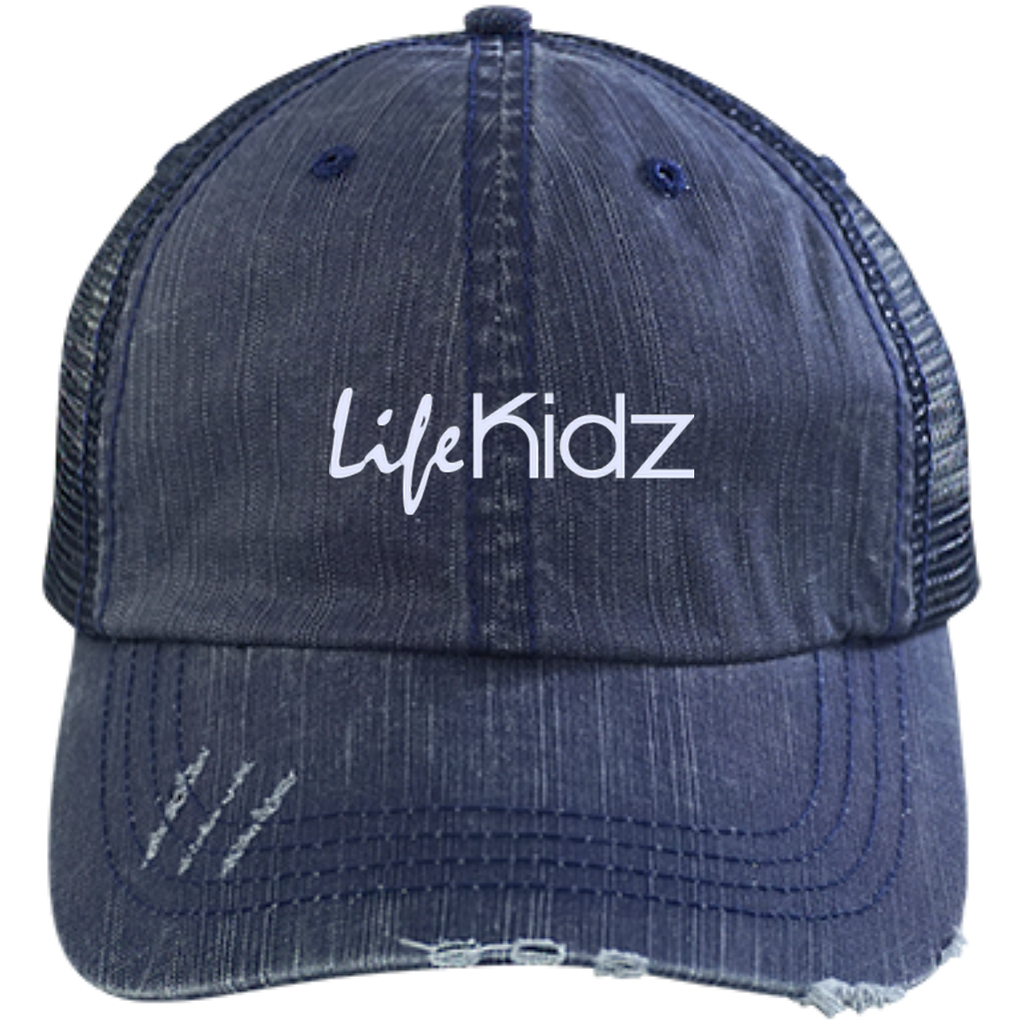 LIFE Church Distressed Unstructured Trucker Cap