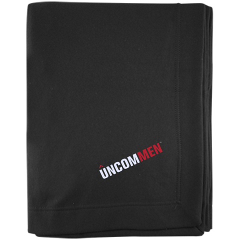 Image of UNCOMMEN Logo - Embroidered Sweatshirt Blanket