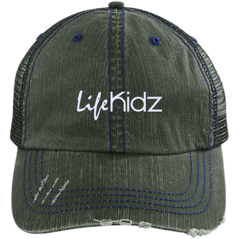 Image of LIFE Church Distressed Unstructured Trucker Cap
