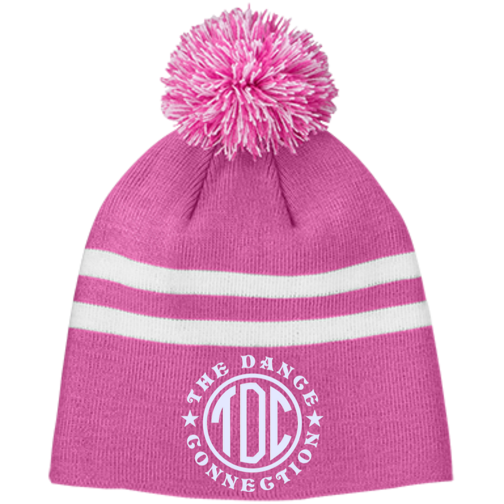 TDC - Striped Pom Beanie