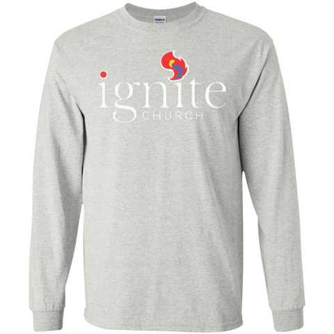 Image of IGNITE church - LS Cotton Tshirt - Kick Merch - 1