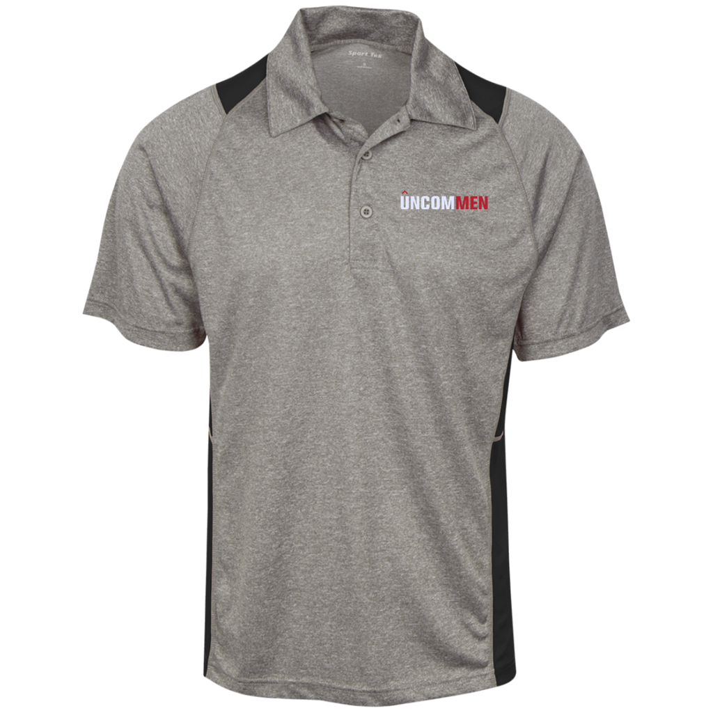 UNCOMMEN Logo - Heather Moisture Wicking Polo