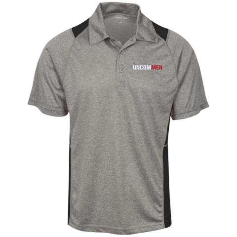 Image of UNCOMMEN Logo - Heather Moisture Wicking Polo
