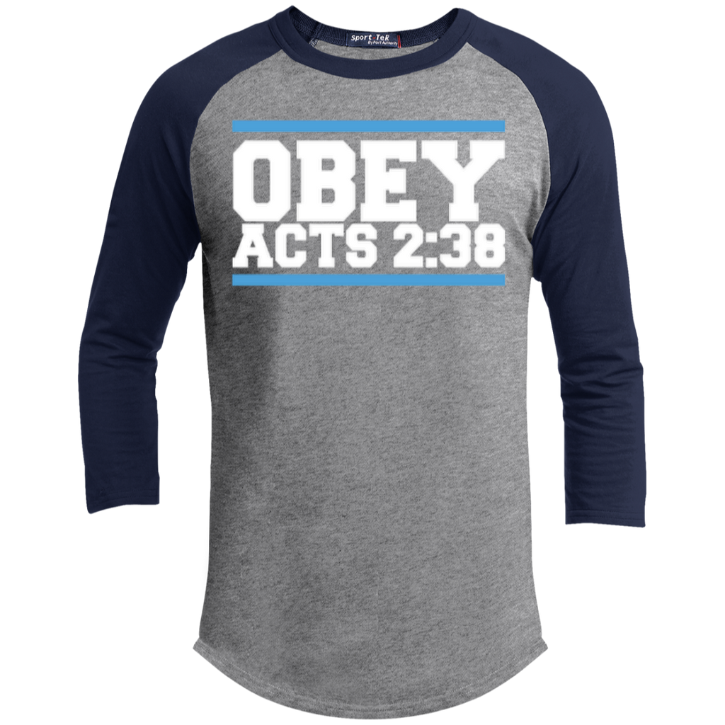 Obey Acts 2:38 - Sporty 3/4 Length Tee Shirt - Kick Merch - 3