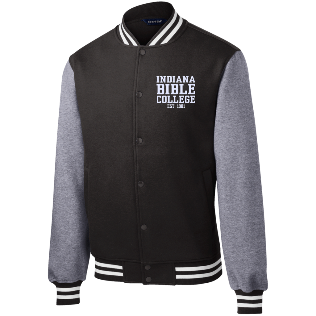 IBC - Fleece Letterman Jacket - Clean Text Design - Kick Merch - 1