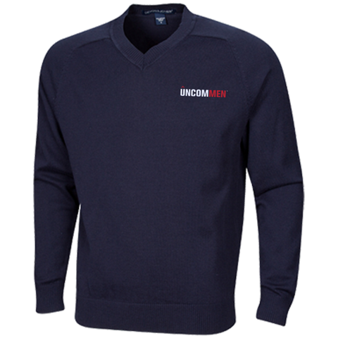 Image of UNCOMMEN Logo - Embroidered V-Neck Sweater