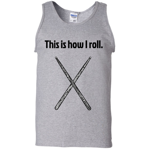 Image of This is how I Roll - Cotton Tank Top - Purple Bee Designs - Kick Merch - 1