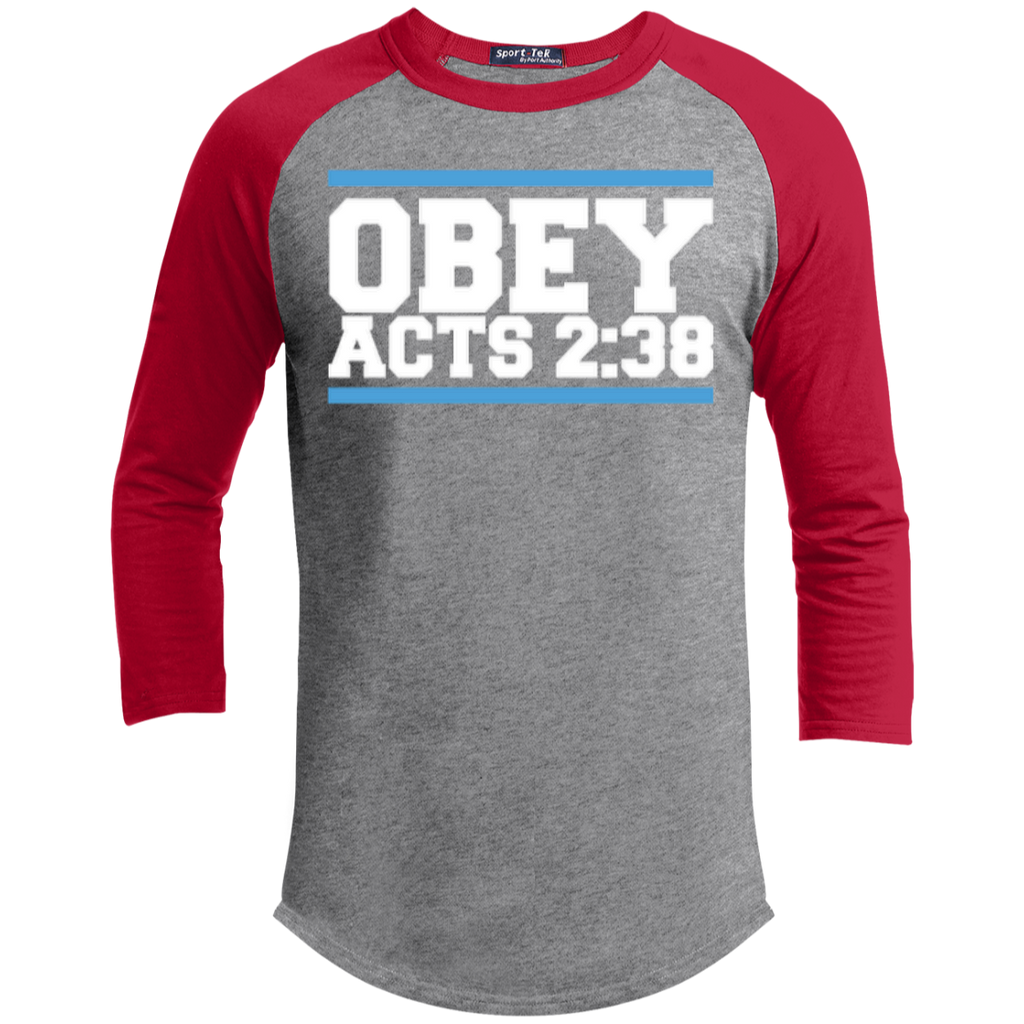 Obey Acts 2:38 - Sporty 3/4 Length Tee Shirt - Kick Merch - 1