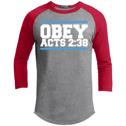 Image of Obey Acts 2:38 - Sporty 3/4 Length Tee Shirt - Kick Merch - 1