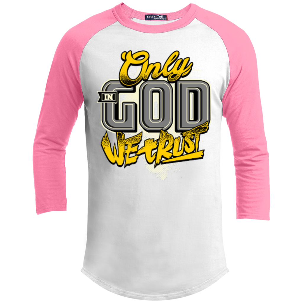 Only In God We Trust - Apostolic Images - 3/4 Length - Sporty Tee Shirt - Kick Merch - 8
