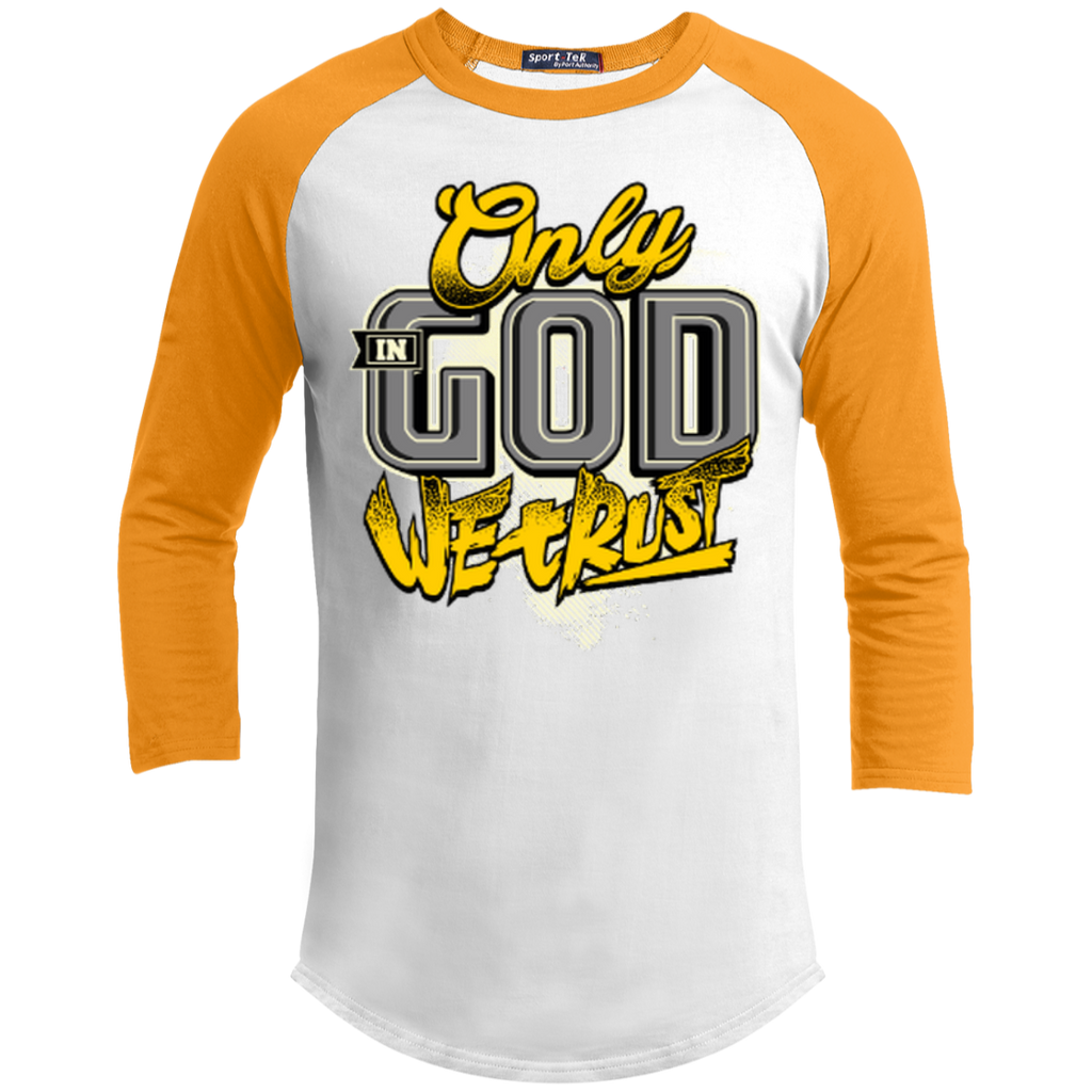 Only In God We Trust - Apostolic Images - 3/4 Length - Sporty Tee Shirt - Kick Merch - 5
