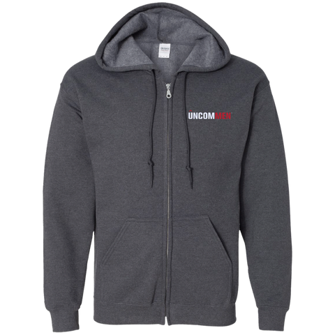 Image of UNCOMMEN Logo - Embroidered Zip Up Hooded Sweatshirt