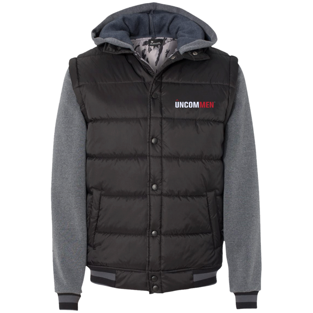 UNCOMMEN Logo - Nylon Vest with Fleece Sleeves