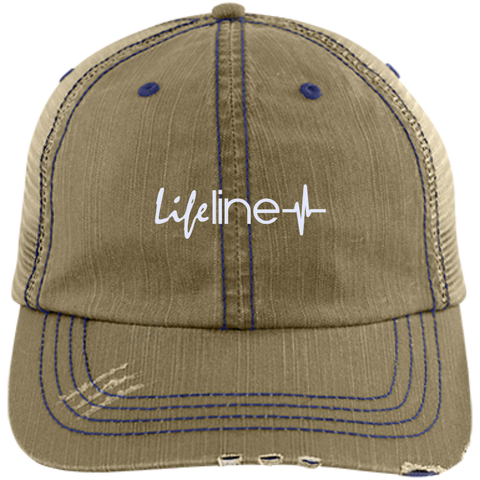 Image of LIFE Line Distressed Unstructured Trucker Cap