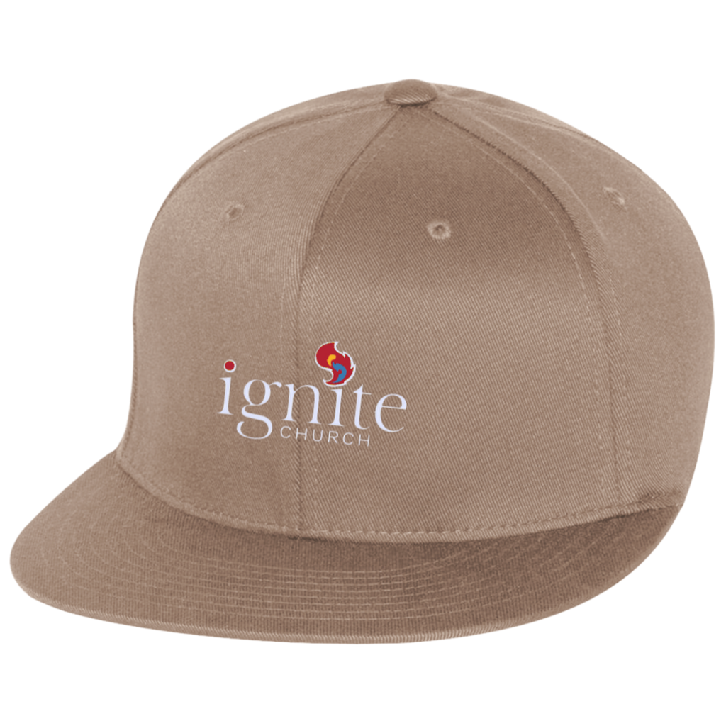 IGNITE church - Flat Bill Twill Flexfit Cap - Kick Merch - 3