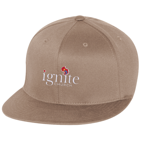 Image of IGNITE church - Flat Bill Twill Flexfit Cap - Kick Merch - 3