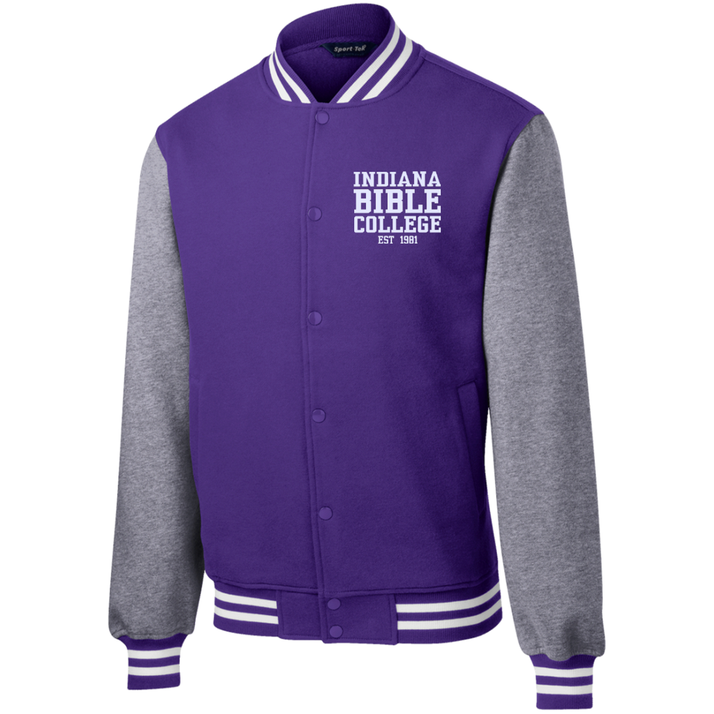 IBC - Fleece Letterman Jacket - Clean Text Design - Kick Merch - 5