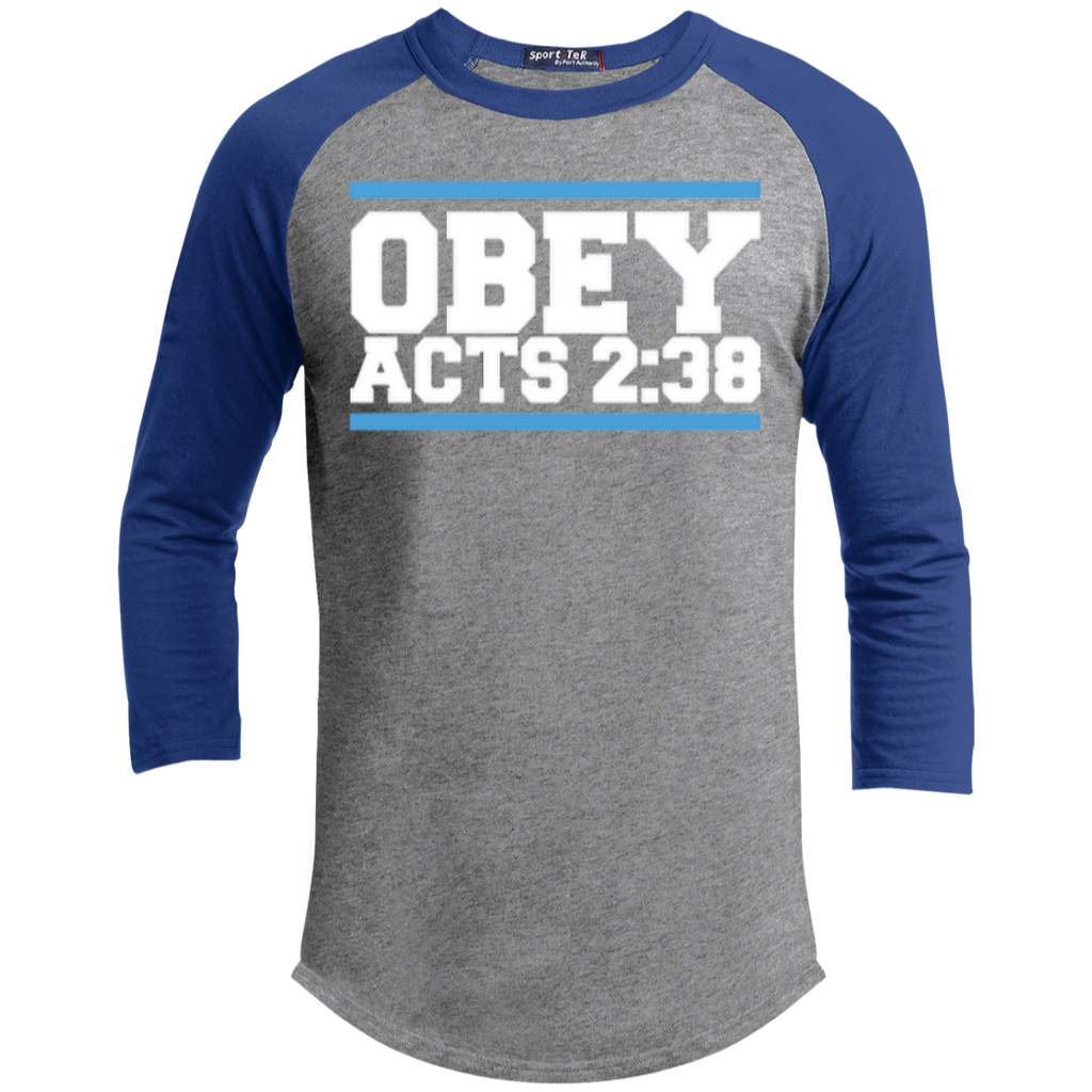 Obey Acts 2:38 - Sporty 3/4 Length Tee Shirt - Kick Merch - 2