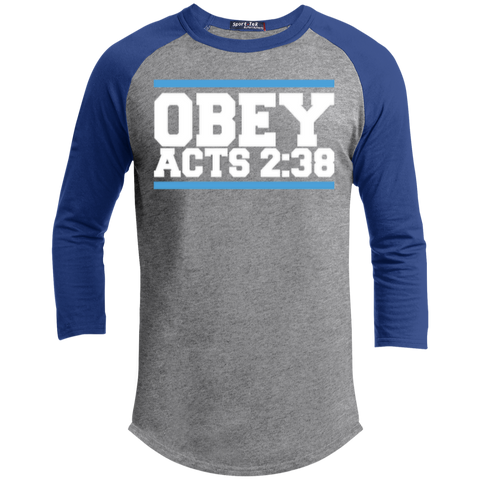 Image of Obey Acts 2:38 - Sporty 3/4 Length Tee Shirt - Kick Merch - 2