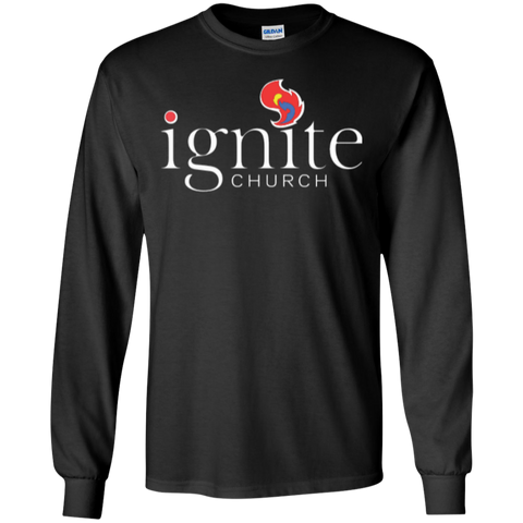 Image of IGNITE church - LS Cotton Tshirt - Kick Merch - 2
