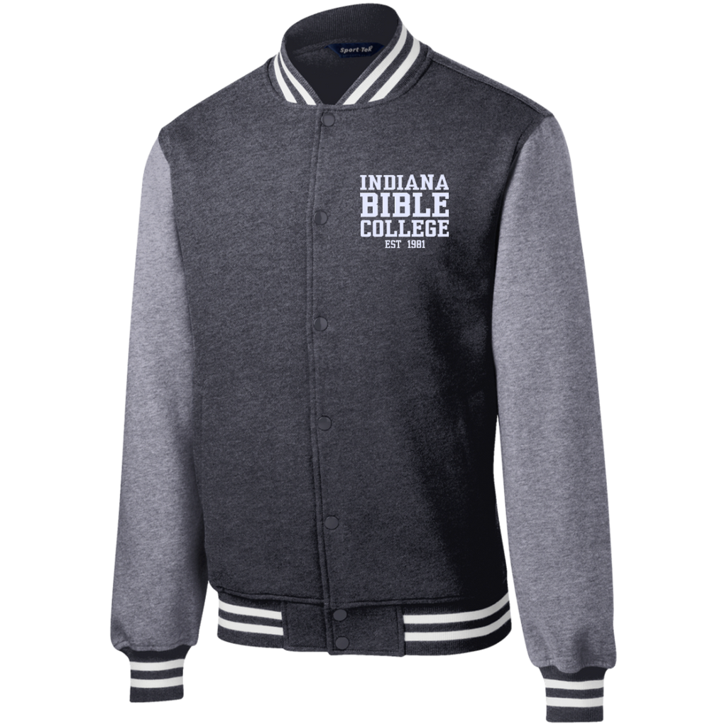 IBC - Fleece Letterman Jacket - Clean Text Design - Kick Merch - 3