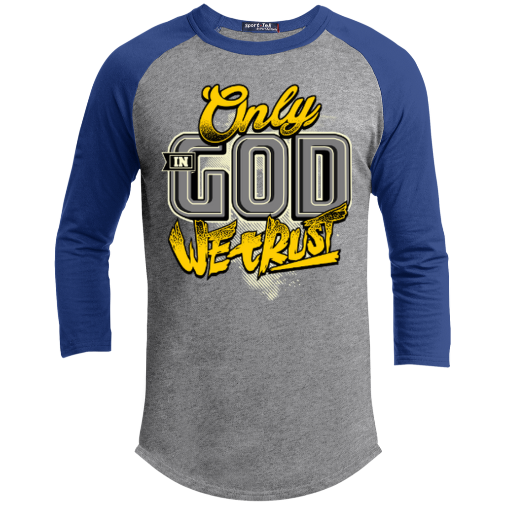 Only In God We Trust - Apostolic Images - 3/4 Length - Sporty Tee Shirt - Kick Merch - 7
