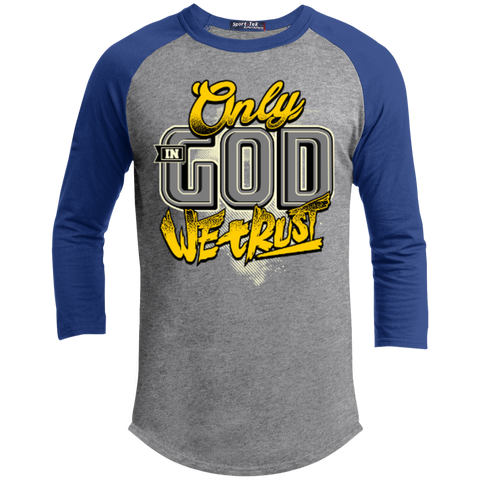 Image of Only In God We Trust - Apostolic Images - 3/4 Length - Sporty Tee Shirt - Kick Merch - 7