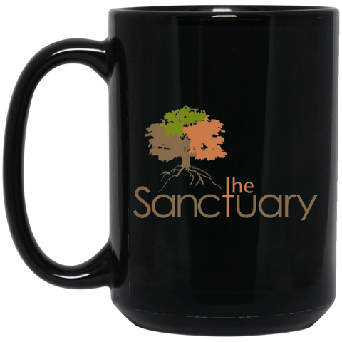 The Sanctuary- 15 oz. Black Mug