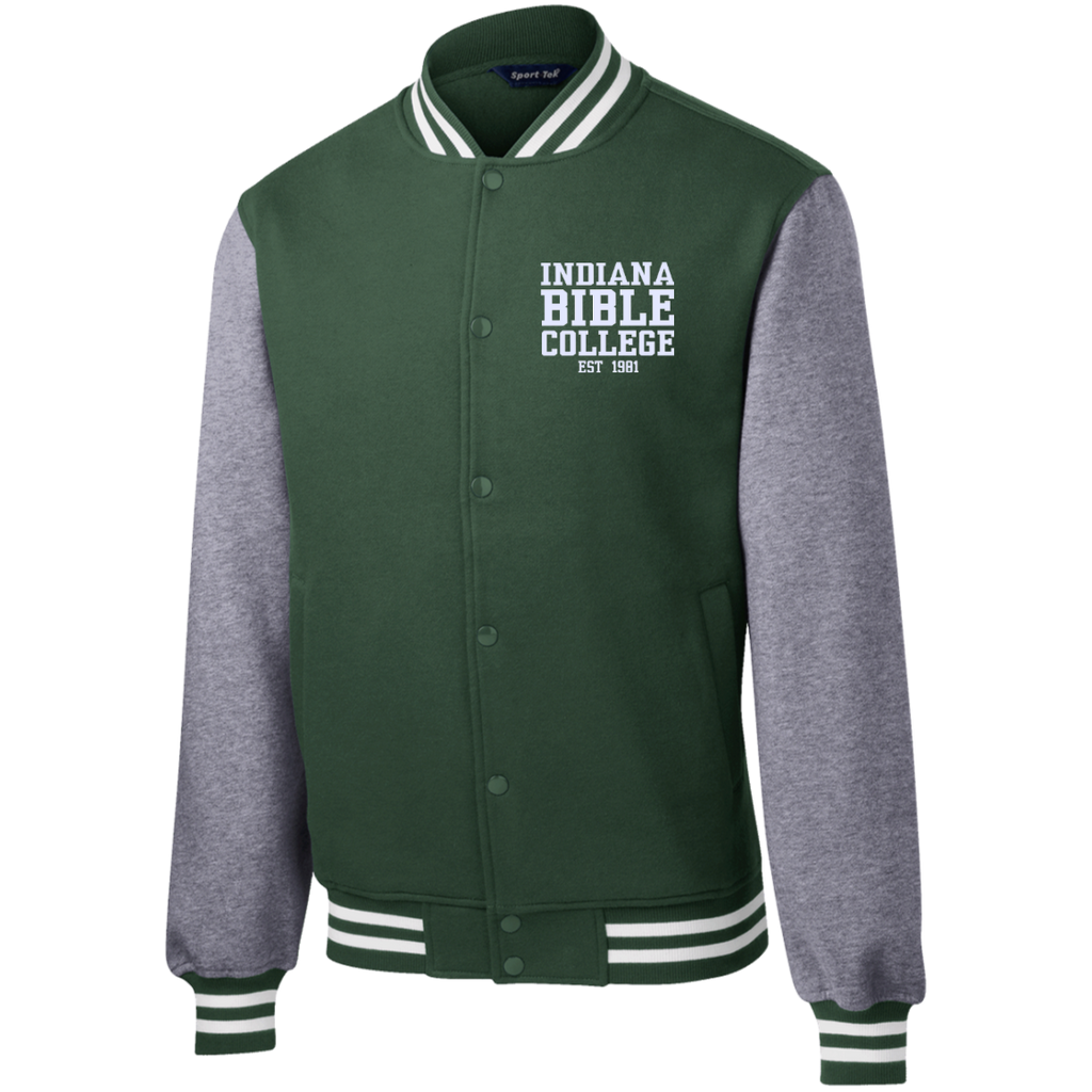 IBC - Fleece Letterman Jacket - Clean Text Design - Kick Merch - 2