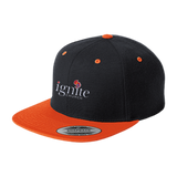 IGNITE church - Flat Bill High-Profile Snapback Hat - Kick Merch - 2