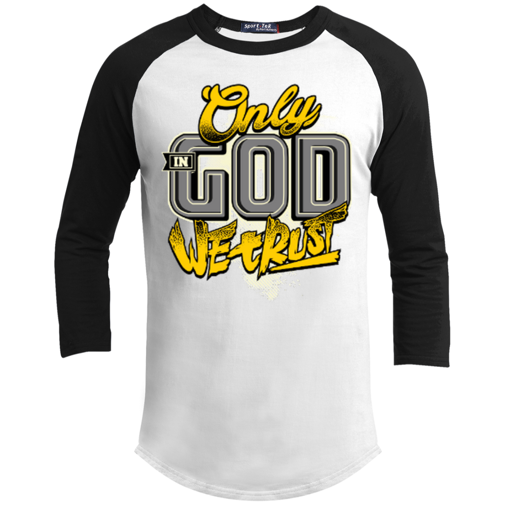 Only In God We Trust - Apostolic Images - 3/4 Length - Sporty Tee Shirt - Kick Merch - 1