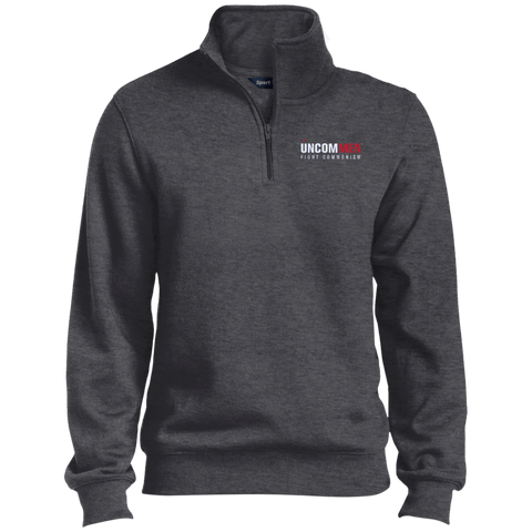 Image of UNCOMMEN Fight Commonism - Quarter-Zip Embroidered Sweatshirt