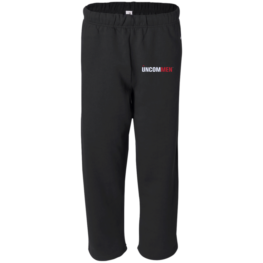 UNCOMMEN Logo - Open Bottom Sweat Pant with Pockets