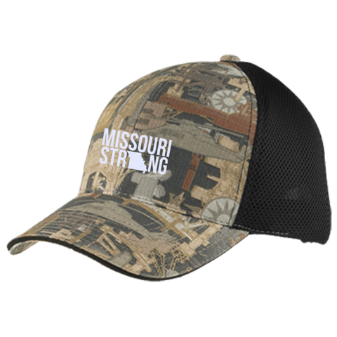 Image of MO Strong - Camo Cap with Mesh - Kick Merch - 2