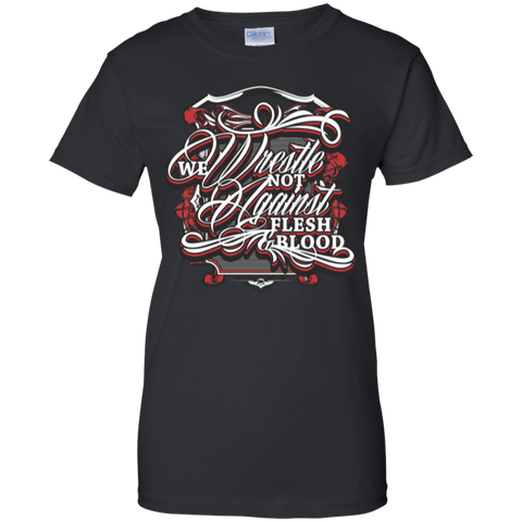 Image of We Wrestle Not - Ladies Cotton T-Shirt - Godly Wear - Kick Merch - 3