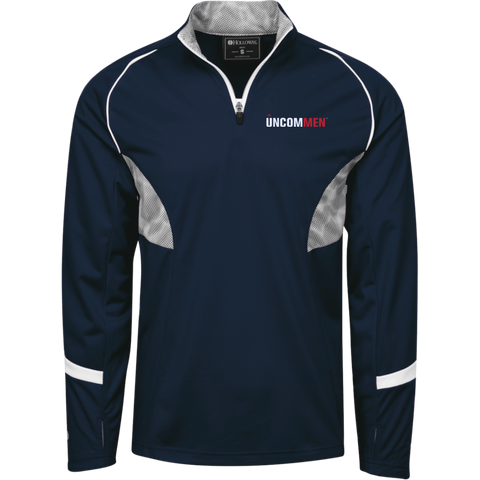 Image of UNCOMMEN Logo - 1/4 Zip Polyester Pullover with Camo Inserts