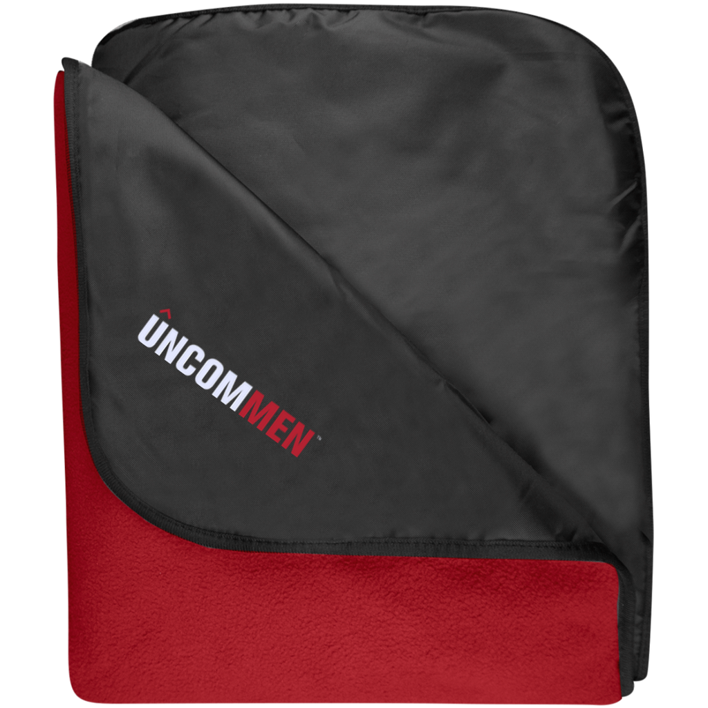 UNCOMMEN Logo - Fleece & Poly Travel Blanket
