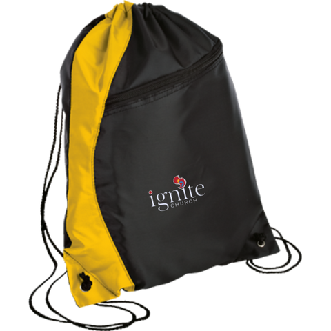 Image of IGNITE church - Colorblock Cinch Pack - Kick Merch - 2