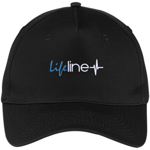 Image of LIFE Line Five Panel Twill Cap