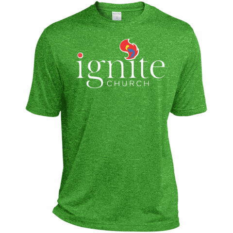Image of IGNITE church - Heather Dri-Fit Moisture-Wicking Tee for Him - Kick Merch - 6