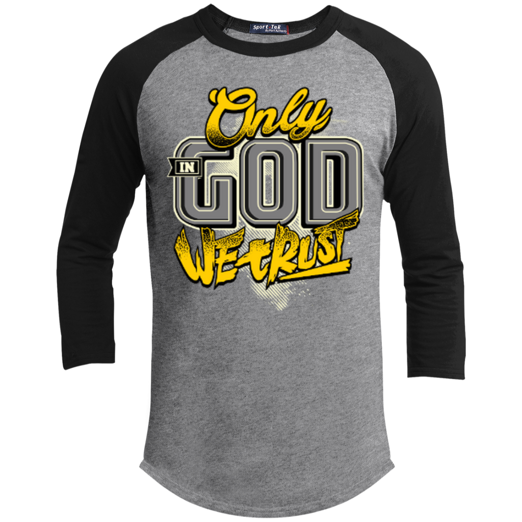 Only In God We Trust - Apostolic Images - 3/4 Length - Sporty Tee Shirt - Kick Merch - 3