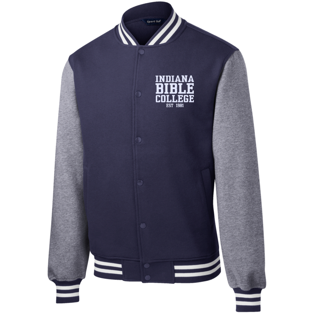 IBC - Fleece Letterman Jacket - Clean Text Design - Kick Merch - 6