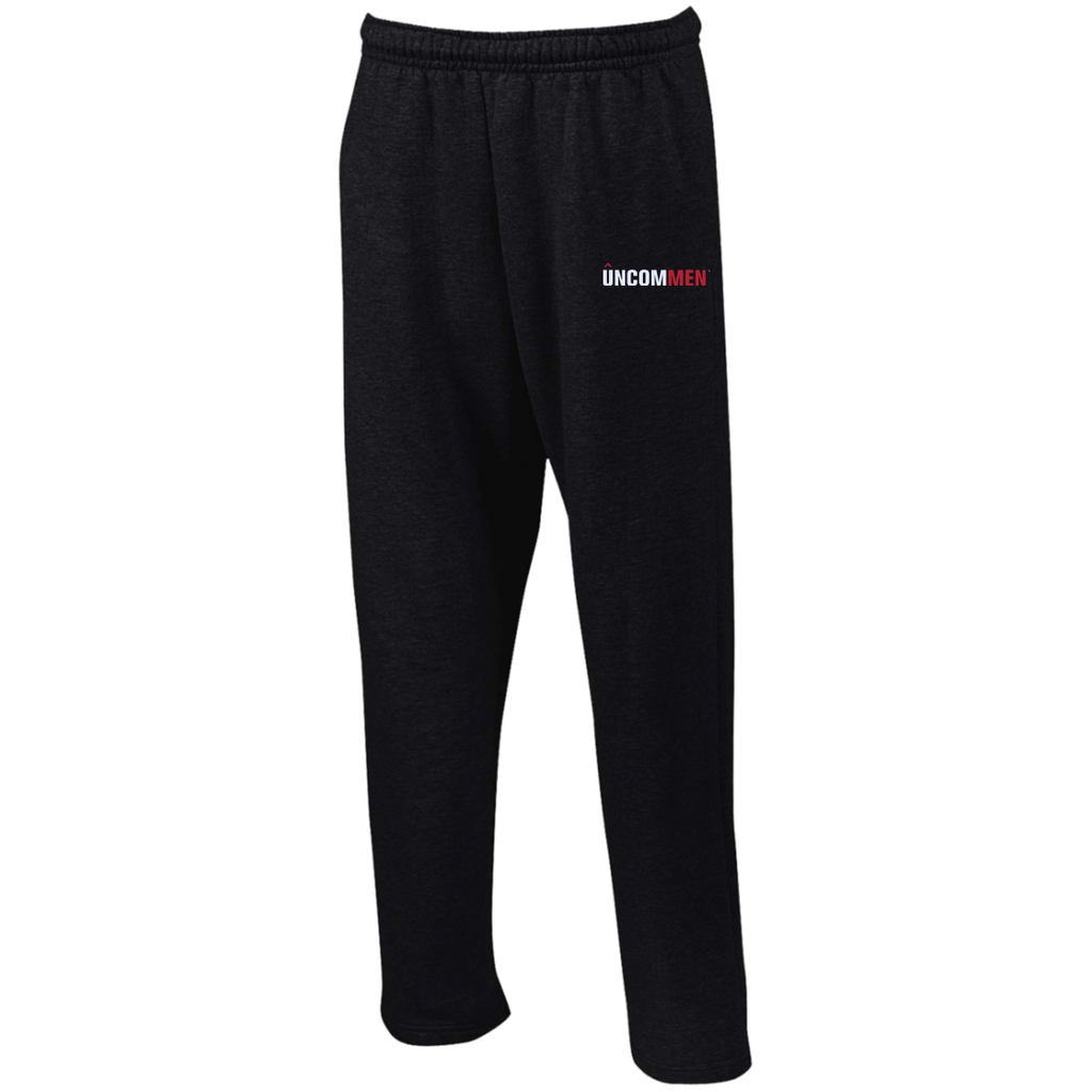 UNCOMMEN Logo - Open Bottom Sweatpants with Pockets
