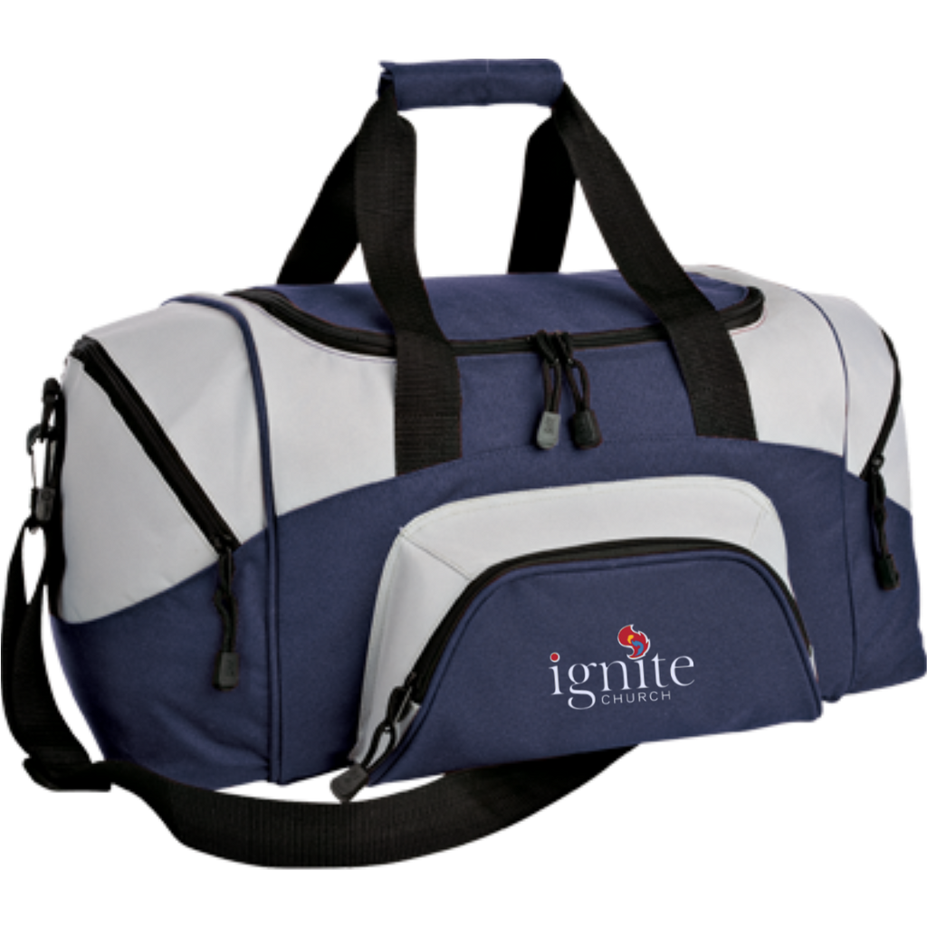 IGNITE church - Small Colorblock Sport Duffel Bag - Kick Merch - 7